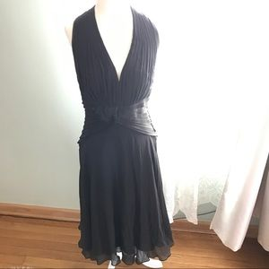 NWT $288 Tadashi Shoji Backless Halter Dress 12P