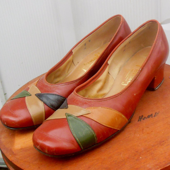 f7adc35ff Vintage Shoes - 60s Leather Penjalo Shoes Size 8W