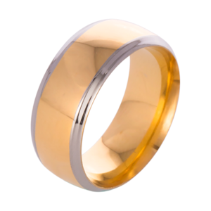 Other - Stainless steel brushed gold/silver ring band men
