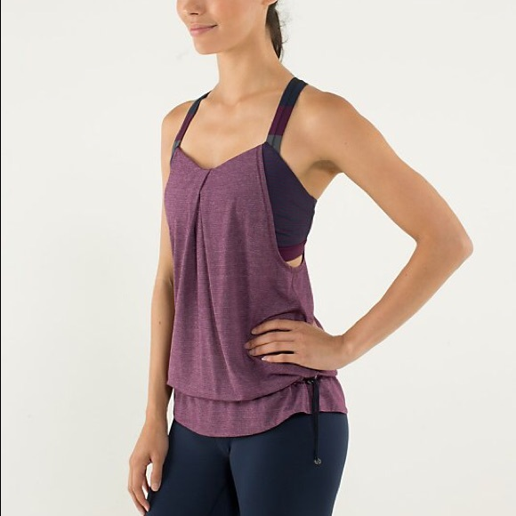 67 off lululemon athletica tops lululemon tank top with for Shirts with built in sports bra