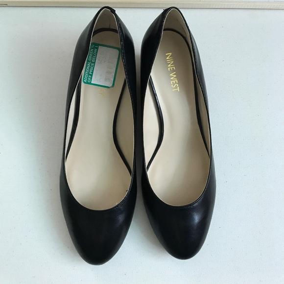 6c6e3083d9 Nine West Shoes | Ispy Black Leather Wedge Size 7 | Poshmark