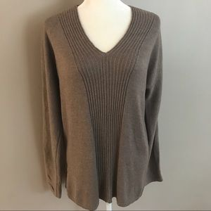 Old Navy tunic lightweight brown sweater.