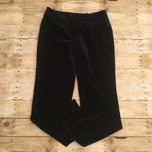 Black velvet like LOFT Ann pants, size 10