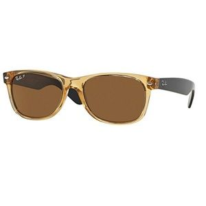 Authentic ray ban new wayfarer sunglasses honey