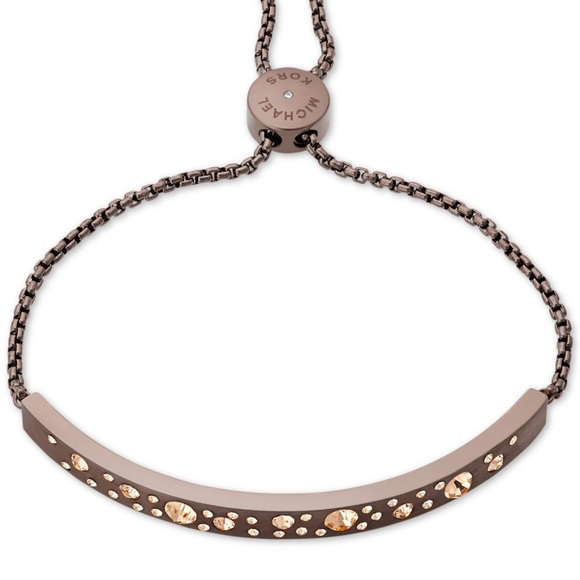 a7ac3638f9c8f MIchael Kors Sable Pavé Slider Bracelet