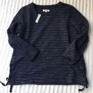 NEW W/ Tags Madewell Sweater top with braided  S