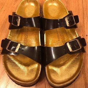 Gold & Brown Birkenstock Sandals