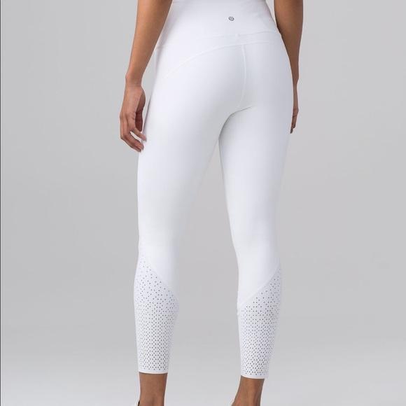 25% off lululemon athletica Pants - RARE LULULEMON WHITE ...