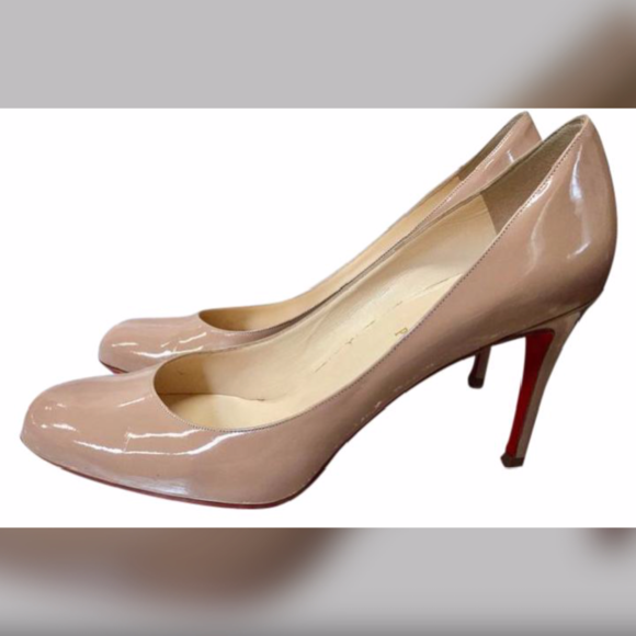 Louboutin Simple Pump 70 Nude Patent Pumps Euro 41
