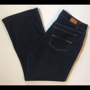 Glo Dark Wash Denim Jeans, Size 16
