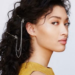 Free People stars & chains connected bobby pins