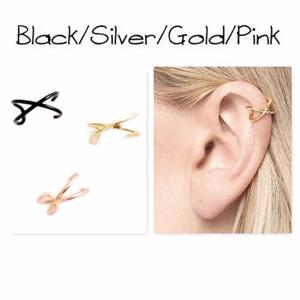 criss cross ear cuff x fake cartilage earring