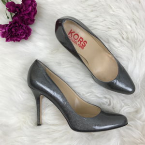 Michael Kors Grey Patent Leather Pump