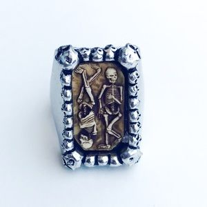 Retired Collector's Pagan Burial Ring Alchemy 9.75