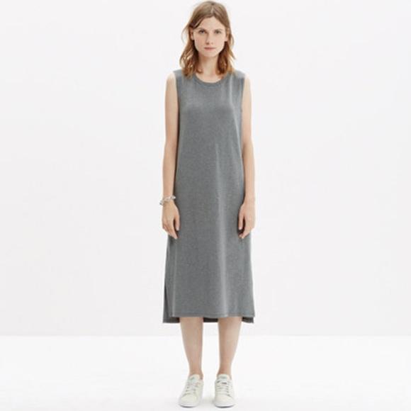 c00707a44729 Madewell Dresses   Skirts - MADEWELL Sleeveless Tee Dress Long Maxi T Shirt  L