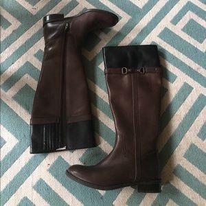 Women\'s Two Tone Riding Boots on Poshmark