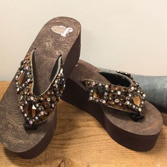 52a608fc3072e4 Justin Boots Jessi Bling Sandals