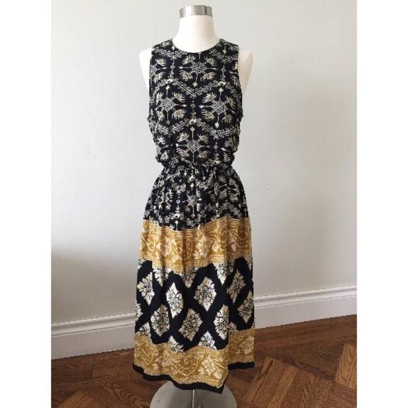 fad3bd606 R.J. Stevens Dresses | 80s Boho Gypsy Maxi Sleeveless Dress | Poshmark