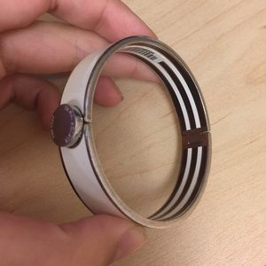 Henri Bendel bangle bracelet cuff jewelry stripe