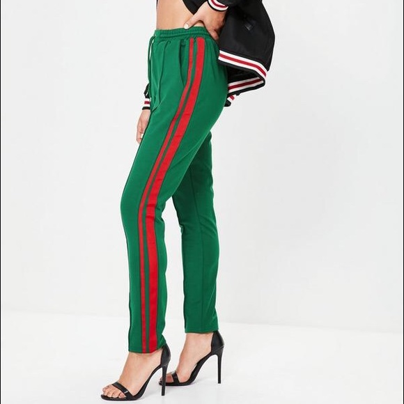 discount price world-wide renown choose latest Green and Red Striped Joggers