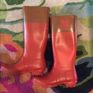 Missoni rain boots size 37