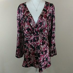 Lane Bryant Empire Waist Blouse B Neck 14/16