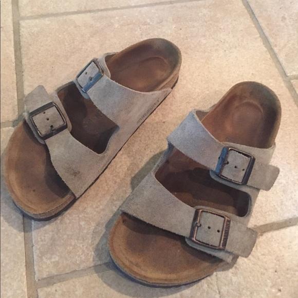 Birkenstocks Shoes Birkenstock Soft Footbed Tan Suede Poshmark