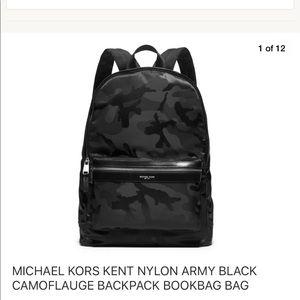 fb2567b0a1ea Michael Kors · Kent Nylon & Leather BookBag Backpack ...