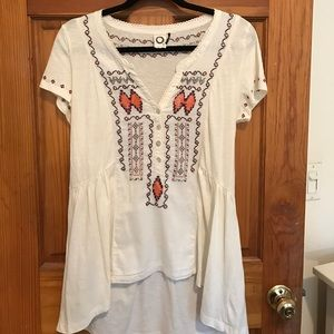Anthropologie beaded/ embroidered top