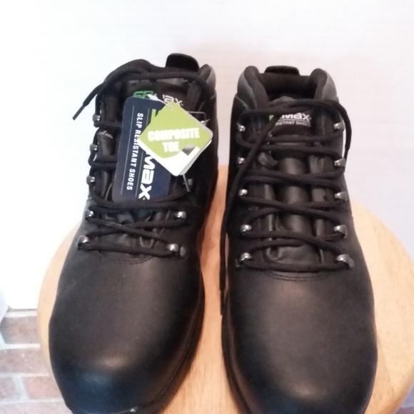 Nwt Sr Max Black Composite Toe Boots