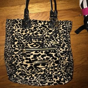 Juicy couture cheetah print velour bag