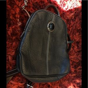 Leather Zip Pod Backpack