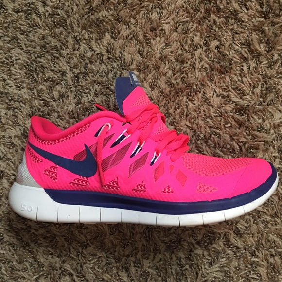 70 off nike shoes nike free run 50 neon pink amp purple