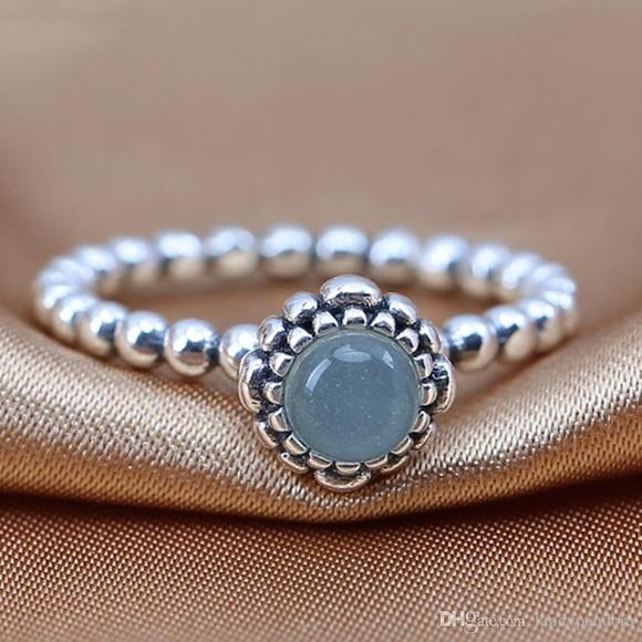 4e0d041cc ... germany pandora birthday blooms aquamarine silver ring 7.5 20c63 56f0b