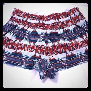 Zara Women Premium Collection Tribal Shorts