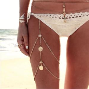 Jewelry - Thigh Chain Boho Turkish Coin Beach Body Jewelry
