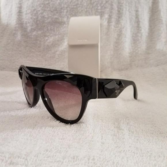 fbcd57a3b7 ... new arrivals hot prada voice black jeweled sunglasses 96413 38057 ...