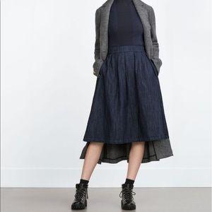 Denim Zara skirt Small