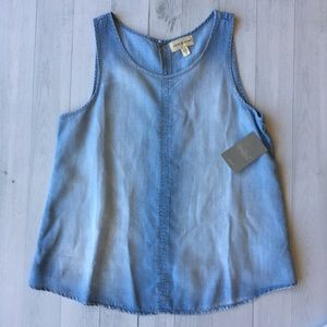 Anthropologie Cloth and Stone Chambray Top