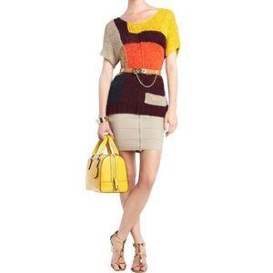 BCBG Maxazria Cayden Colorblock Knit S/S Sweater