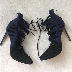 ZARA Lace Up Cage Sandals