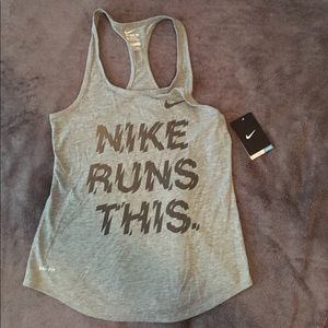 Nike Reflective Running Gray Racerback Tank