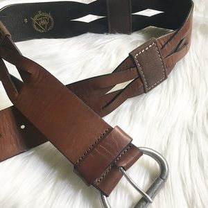 Wide Brown Belt