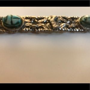 Jewelry - Pure silver bracelet with real turquoise