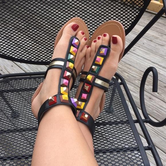 00e37cbe5 Fendi look alike studded gladiator sandals. M 596945c65a49d022db00479b