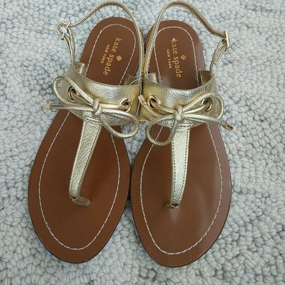 4d5af2d141f9 kate spade Shoes - Kate Spade gold bow sandal NWOB.