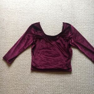 NWT adam Levine velvet crop top
