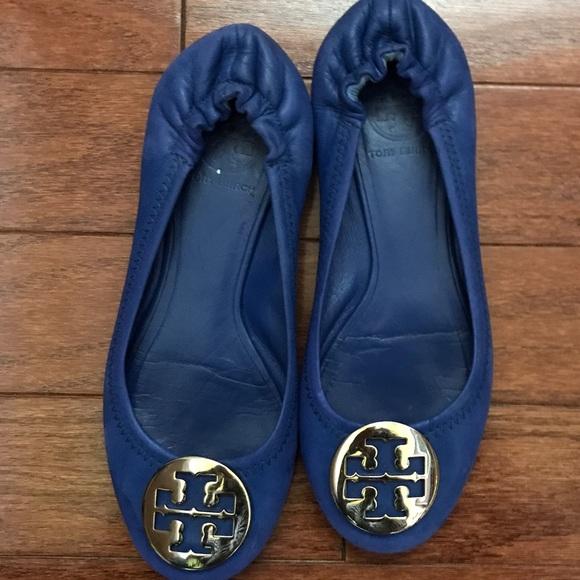 Tory Burch Royal Blue Flats