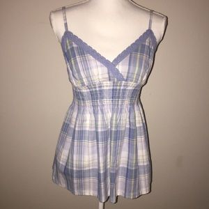 Tommy Hilfiger Blue Plaid Sleeveless Top