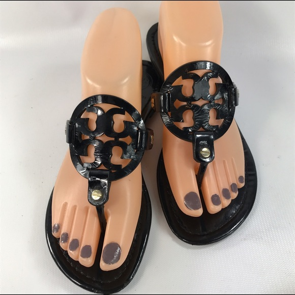 cbbf485d3 Tory Burch Shoes - Tory Burch black patent Miller Sandals Size 7